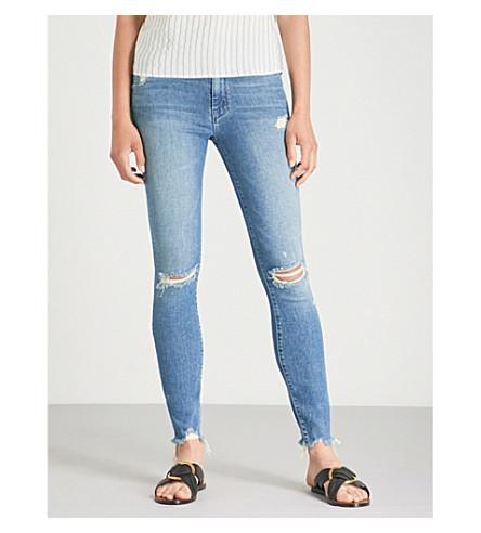 MOTHER旁观者脚踝咀嚼修身版型紧身牛仔裤 (学习 + + 呼啦圈