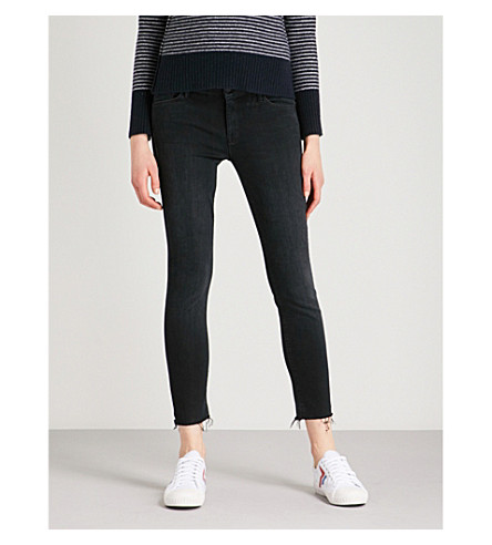 MOTHER The Looker Ankle Fray skinny high-rise jeans (Blackbird