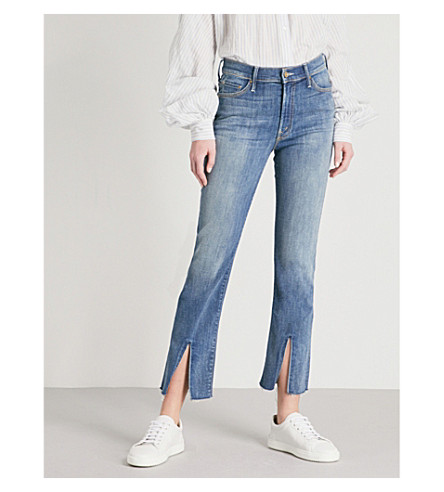 MOTHER The Insider Slit Ankle skinny high-rise jeans (Not+rough+enough