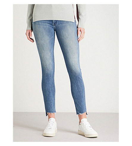 MOTHER The Stunner Zip Step Fry slim-fit skinny mid-rise jeans (Good+girls+do