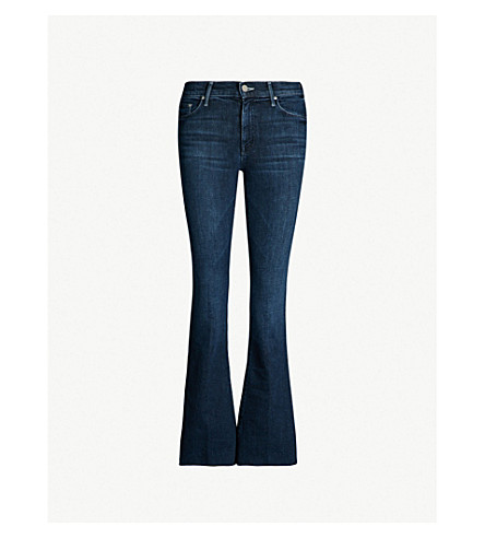 MOTHER The Weekender Fray slim-fit flared jeans (Disco dolls