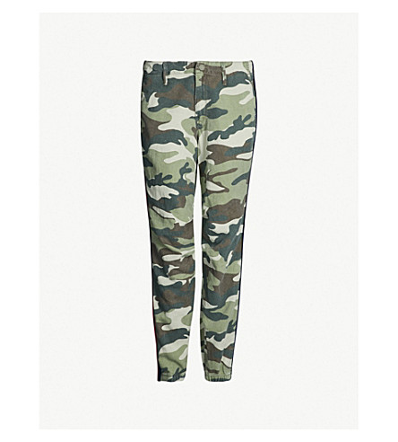 MOTHER The No Zip Misfit tapered mid-rise cotton-blend trousers (Double time camoflage
