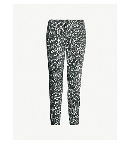 MOTHER The No Zip Misfit leopard-print straight high-rise jeans (Jungle eyes