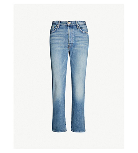 MOTHER The Tomcat mid-rise faded straight-leg jeans (Secret sister