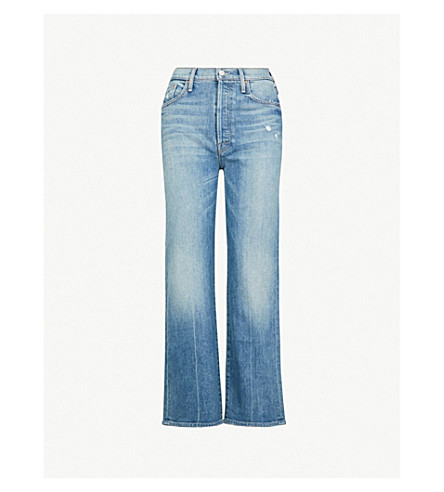 MOTHER The Rambler cropped wide-leg high-rise jeans (High as the heavens