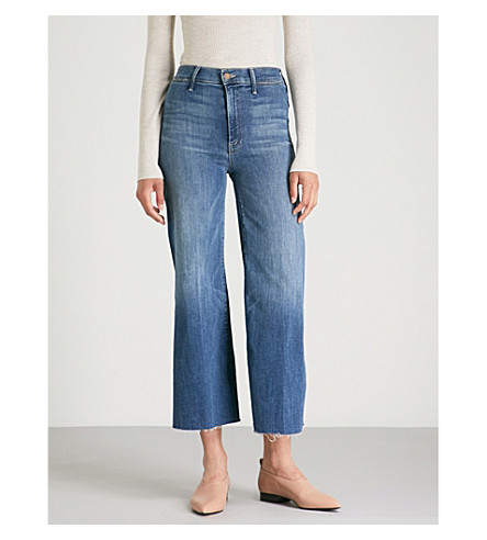 MOTHER The Roller wide mid-rise jeans (Come+sundown