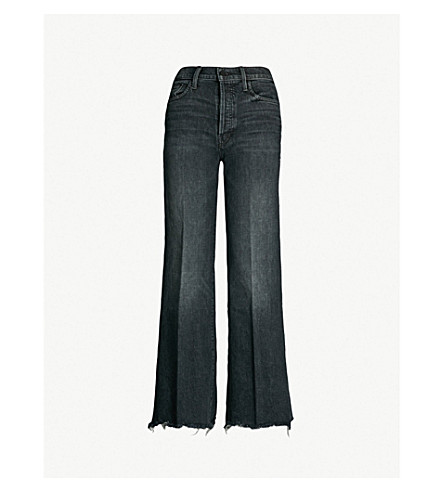 MOTHER The Tomcat Roller Chew frayed mid-rise jeans (Say youre sorry