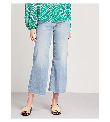 MOTHER The Roller wide-leg mid-rise jeans (Ready+to+roll