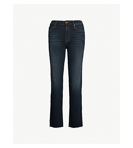 MOTHER Rascal high-rise skinny jeans (Coffee tee or me