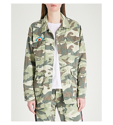MOTHER The Loose Veteran cotton-blend jacket (Camouflage