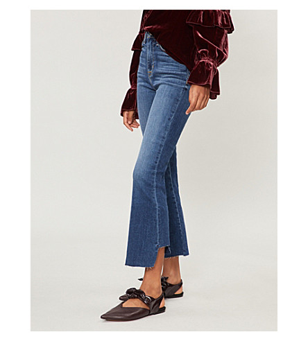 HUDSON JEANS Holly cropped flared high-rise jeans (Loss+control