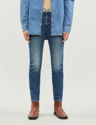 Melk faded skinny high-rise jeans