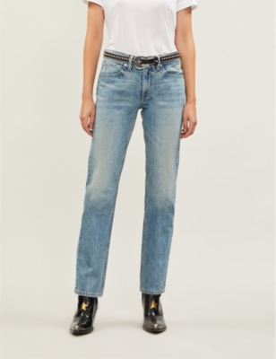 Tyler straight high-rise jeans