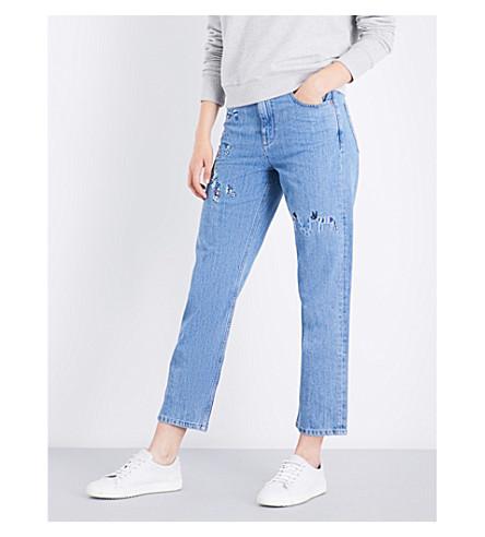 DIESEL Khaly boyfriend-fit cropped jeans (01+blue