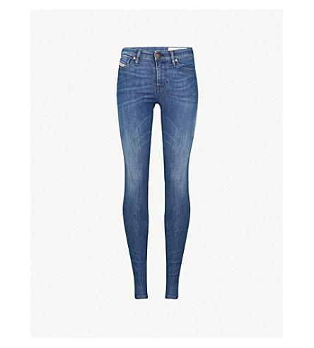 DIESEL Skinzee skinny mid-rise jeans (Denim
