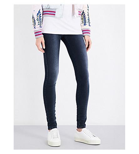 DIESEL Skinzee super slim-fit mid-rise jeans (01+blue