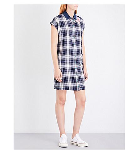 DIESEL Lexine plaid jersey dress (8lq+navy