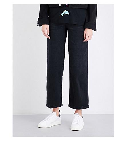 DIESEL Widee wide high-rise jeans (02+black