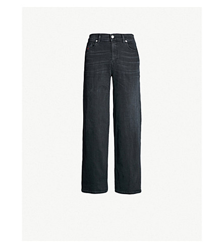 DIESEL Widee wide high-rise jeans (Black