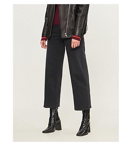 DIESEL Widee wide high-rise jeans (Black