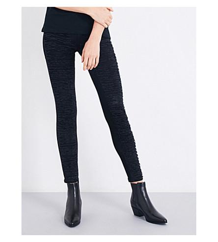 DIESEL Dhary distressed super slim-fit mid-rise jeans (02+black
