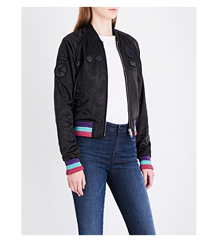 DIESEL G-Absol-H satin bomber jacket (900+black