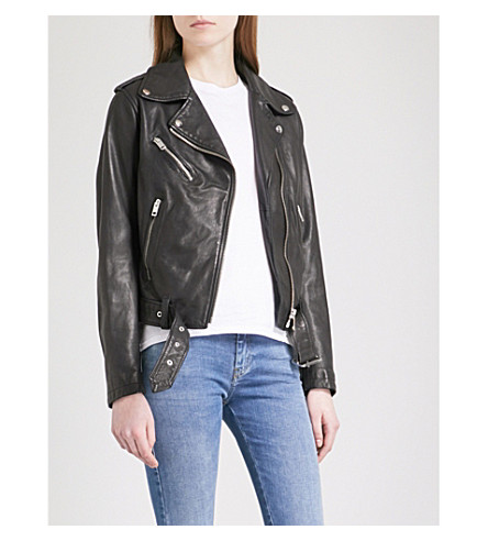 DIESEL L-Tammy leather jacket (900+black