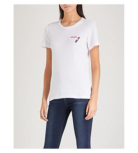 DIESEL Lipstick cotton-jersey T-shirt (100+white