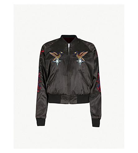 DIESEL G-Absol-M reversible velvet and satin bomber jacket (900+black