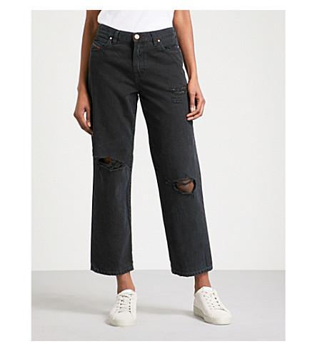 DIESEL Niclah distressed high-rise jeans (02+black+denim