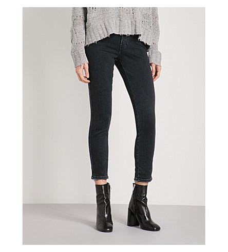 DIESEL Skinny mid-rise jeans (02+black