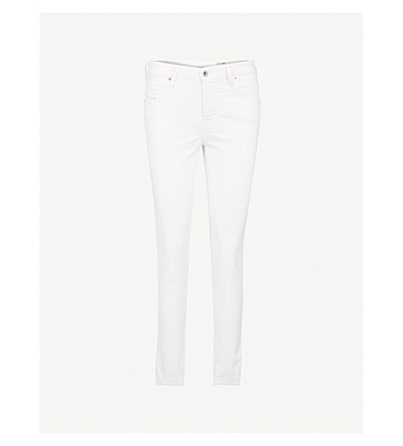 DIESEL Babhila slim-fit high-rise jeans (100+bright+white