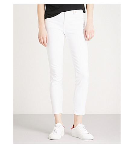 DIESEL Babhila slim-fit high-rise jeans (100+bright+white