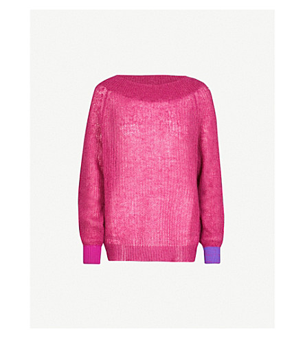 DIESEL M-Should contrast-cuff jumper (Purple