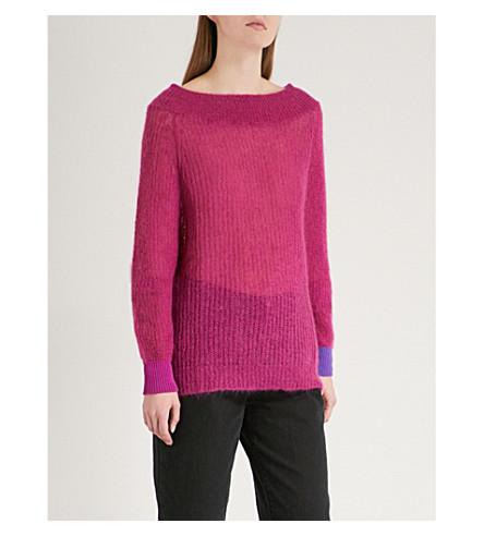 DIESEL M-Should contrast-cuff jumper (Purple