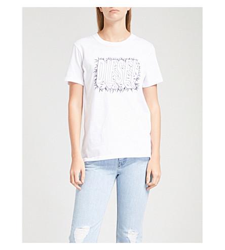 DIESEL Spike Logo cotton-jersey T-shirt (100+white