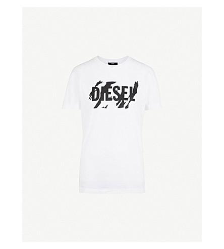 DIESEL Tape Logo cotton-jersey T-shirt (100+white