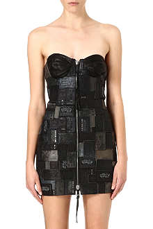 DIESEL Tribute leather patchwork dress