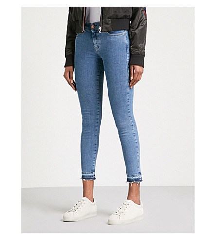 DIESEL Slandy super-skinny high-rise jeans (01+blue+denim