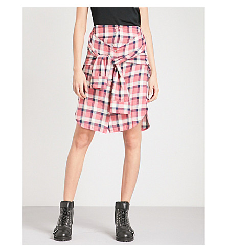 DIESEL O-planet high-rise brushed cotton skirt (37q