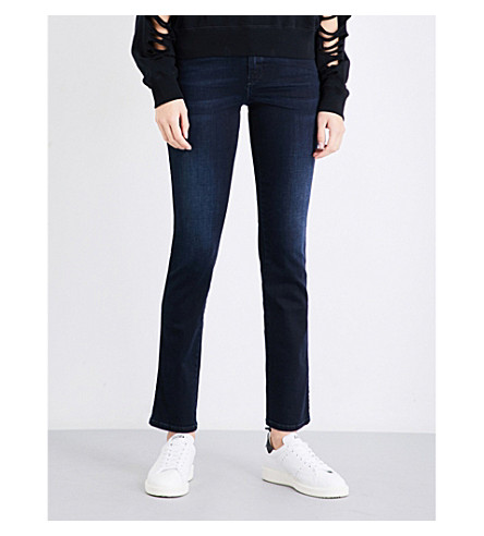 DIESEL Sandy slim-fit straight mid-rise jeans (01+blue