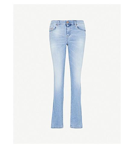 DIESEL Sandy slim-fit straight mid-rise jeans (01+blue+denim
