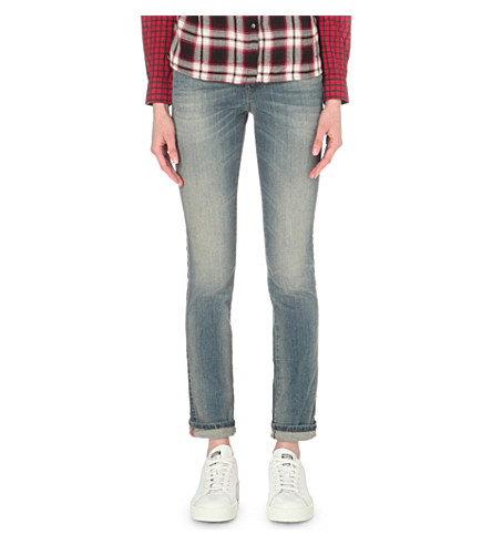 DIESEL Sandy straight mid-rise jeans (0675d