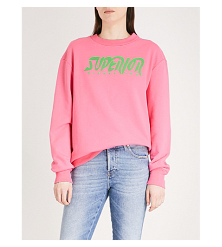 DIESEL Superior cotton-jersey sweatshirt (38k+pink