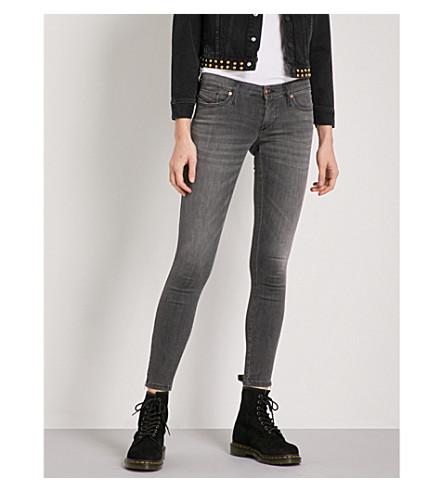 DIESEL Skinzee faded skinny mid-rise jeans (02+grey