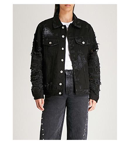 DIESEL Visty distressed denim jacket (Black