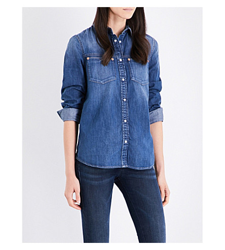 DIESEL DE-KERI denim shirt (Blue