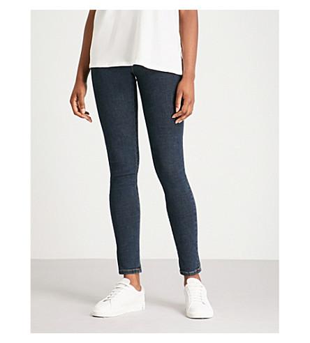 DIESEL Slandy super slim-skinny mid-rise jeans (Dark+blue