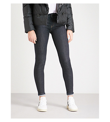 DIESEL Slandy skinny mid-rise jeans (Black
