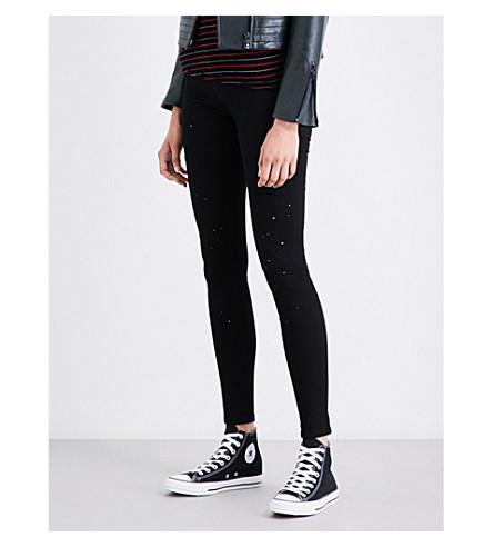DIESEL Slandy distressed super-skinny mid-rise jeans (02+black